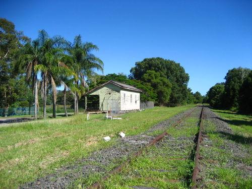 Billinudgel NSW rail line to north