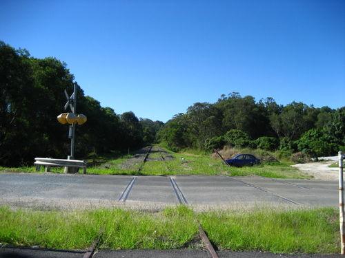 Billinudgel NSW rail line to south